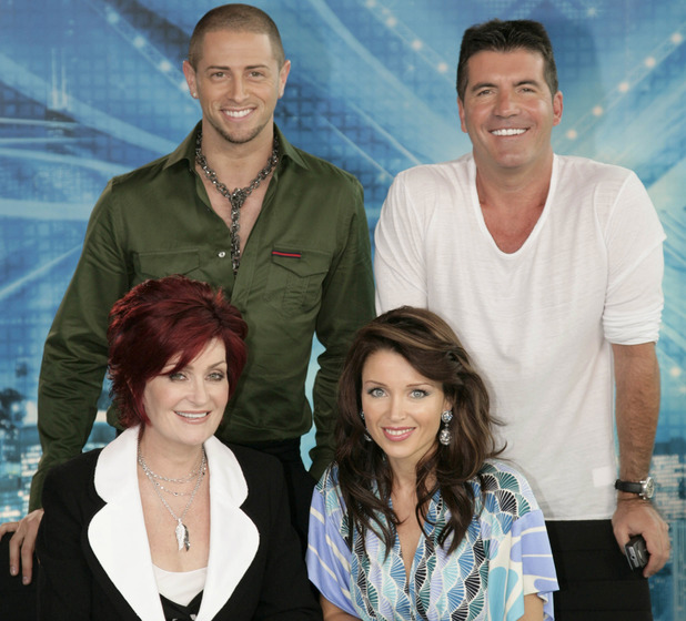 Brian Friedman with Simon Cowell, Sharon Osbourne and Dannii Minogue on 'The X Factor' in 2007.