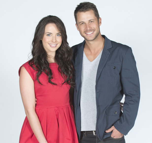 Ashleigh Brewer and Scott Mcgregor as Kate Ramsay and Mark Brennan.