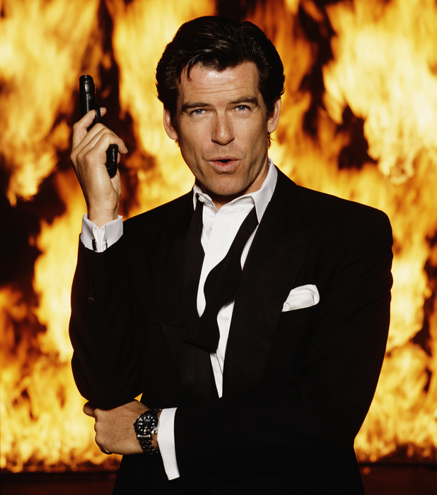 Pierce Brosnan poses for a 'GoldenEye' publicity shot.