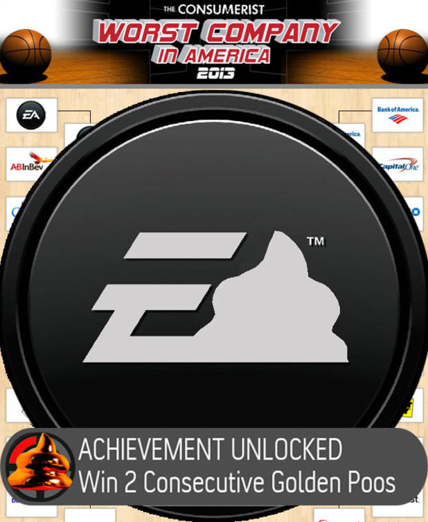 Electronic Arts EA Worst Company in America Golden Poo award