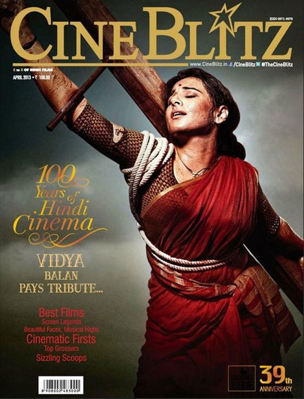 Vidya Balan as Nargis from 'Mother India' on the cover of Cine Blitz