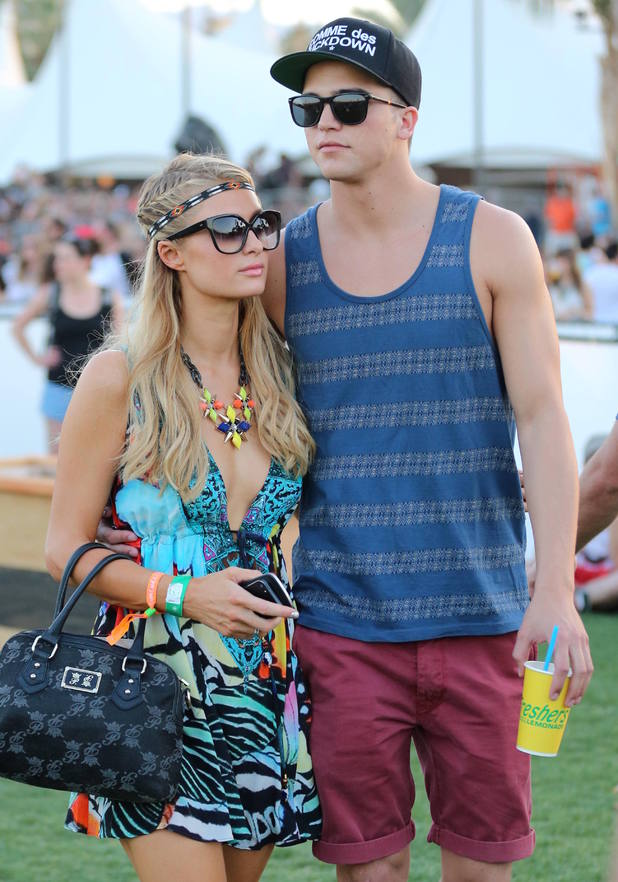 Paris Hilton and River Viiperi at the 2013 Coachella Valley Music and Arts Festival.