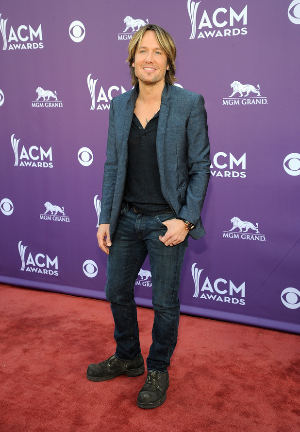Keith Urban arriving at the Academy of Country Music Awards 2013