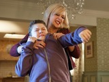 Clare turns violent with Tom