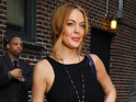 Lindsay Lohan reportedly gets a standing ovation after filming her guest spot.