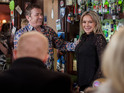 Pictures of the moment Kirsty Branning lies to everyone at the Queen Vic.