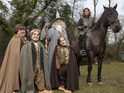 Actors resembling Gandalf, Hobbits and Aragorn bring movie experience to life