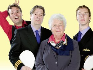 The main cast of 'Cabin Pressure'