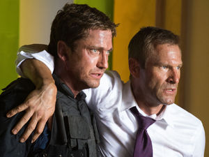 Gerard Butler, Aaron Eckhart in Olympus Has Fallen