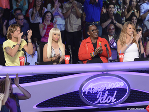 'American Idol' Top 5 performances - Judges Nicki Minaj, Keith Urban, Randy Jackson and Mariah Carey