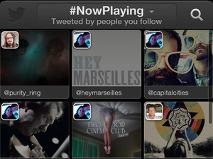 Twitter #music application: #NowPlaying