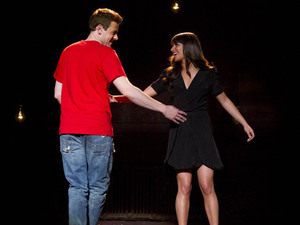 Finn (Cory Monteith) and Rachel (Lea Michele) perform in Glee S04E19: 'Sweet Dreams'