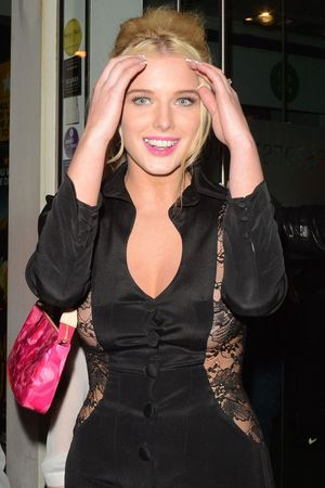 Helen Flanagan, dress, sheer, lace