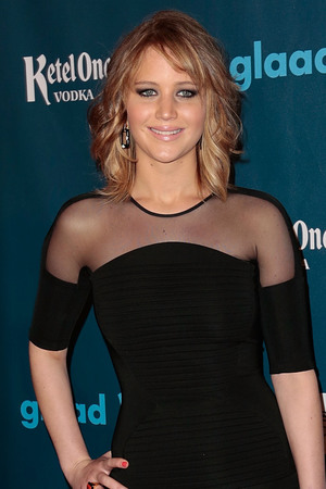 Jennifer Lawrence attends the Annual GLAAD Media Awards.