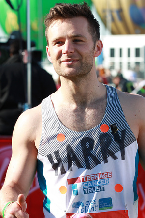 Harry Judd at the 2013 London Marathon.