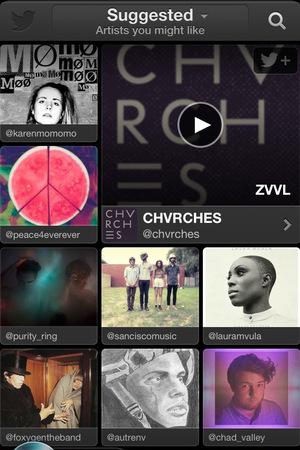 Twitter #music application: Profile
