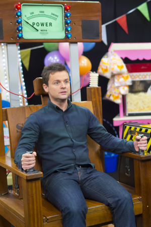 Dec takes on the 'electric chair' on Britain's Got More Talent