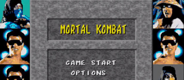 Mortal Kombat arcade main screen