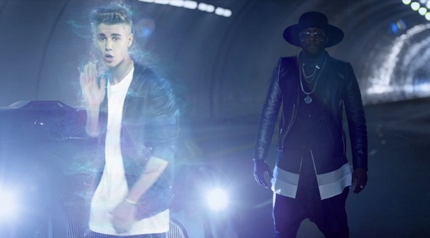 will.i.am and Justin Bieber '#thatPOWER' music video.