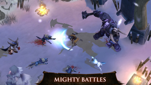 A screenshot from 'Dungeon Hunter 4!' on iOS