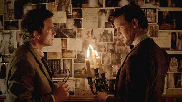 Alec Palmer (Dougray Scott) & The Doctor (Matt Smith) in Doctor Who S07E04: 'Hide'