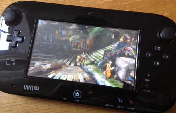 Monster Hunter 3 Ultimate running on the GamePad.
