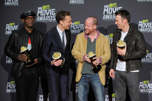 MTV Movie Awards 2013 press room: Samuel L Jackson, Tom Hiddleston, Chris Evans and Joss Whedon
