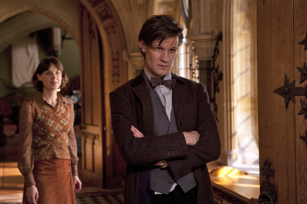 Emma Grayling (Jessica Raine) & The Doctor (Matt Smith) in Doctor Who S07E04: 'Hide'