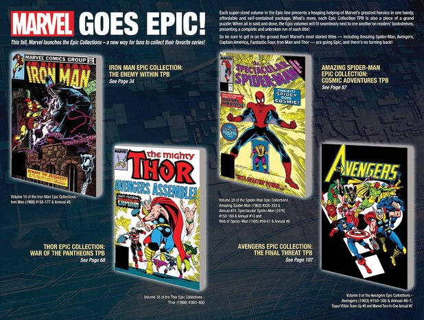 Marvel Comics full-colour 'Epic' collections
