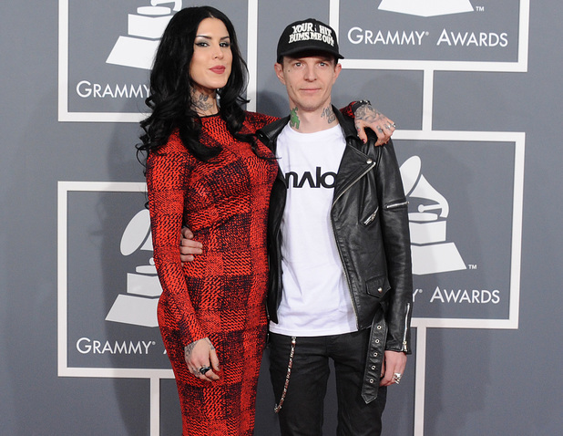 Kat Von D and deadmau5 - Grammy Awards 2013