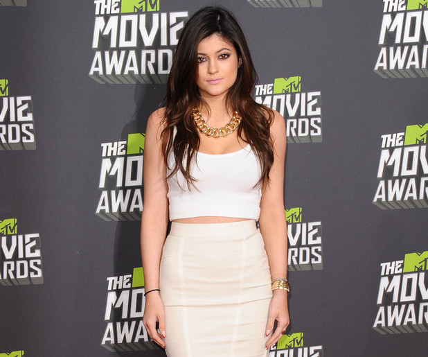 Kylie Jenner, MTV Awards 2013, fashion, body-con top, skirt