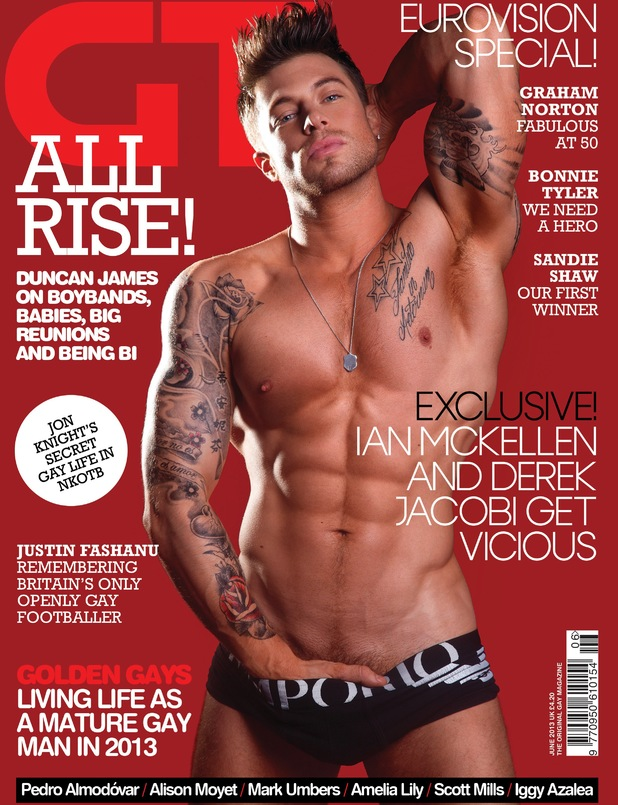 Duncan James of Blue in Gay Times