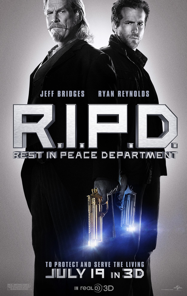 The official poster for 'R.I.P.D'