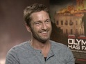 Gerard Butler and Aaron Eckhart discuss action thriller Olympus Has Fallen.