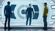 Chris Pine's Captain Kirk hunts Benedict Cumberbatch's terrorist John Harrison in the Star Trek Into Darkness trailer.