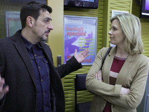 Peter and Leanne row over the betting shop