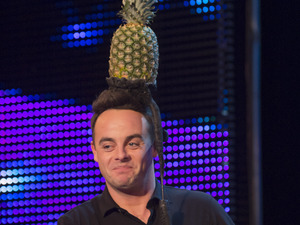 Ant prepares for Aaron Crow&#39;s stunt during Britain&#39;s Got Talent 2013