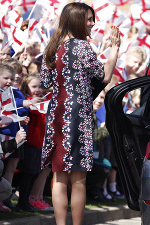 Duchess of Cambridge, Kate Middleton, spring dress, floral Erdem dress, Willows Primary School, Wythenshawe, Manchester