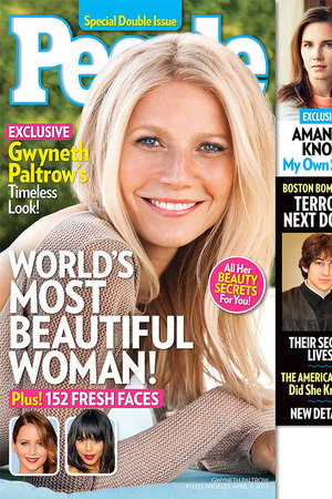 Gwyneth Paltrow is named People's Most Beautiful Woman 2013