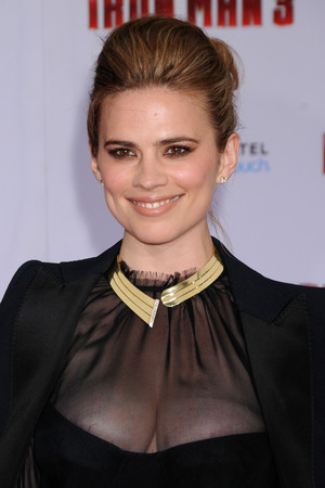 Hayley Atwell, Iron Man 3 premiere, sheer dress, Antonio Berardi