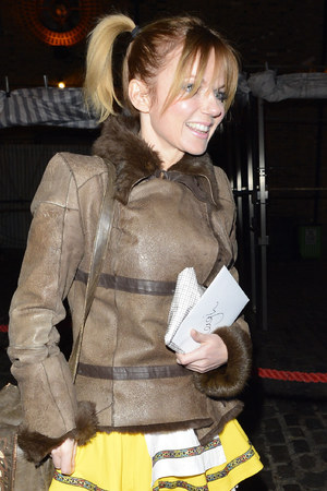 Geri Halliwell arrives at Leigh Francis' birthday party.