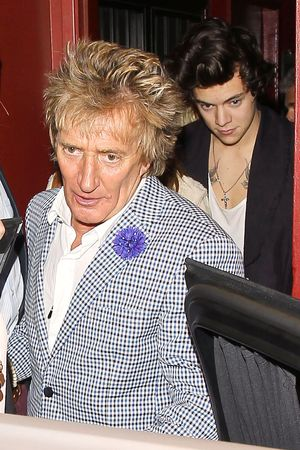 Harry Styles and Rod Stewart leave Dan Tanas, Los Angeles,