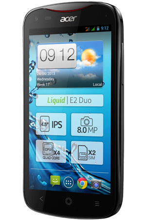 Acer Liquid E2 Duo smartphone in Carbon Black
