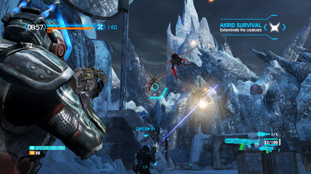 Multiplayer Akrid Survival mode in Lost Planet 3, releasing this August.