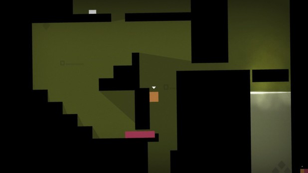 A screenshot of Mike Bithell's 'Thomas Was Alone'