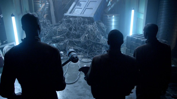 A spaceship salvage team in Doctor Who S07E05: 'Journey to the Centre of the TARDIS'