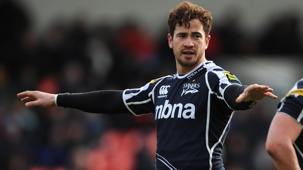 Danny Cipriani in action with Sale Sharks (PA green label) ~~ March 10, 2013