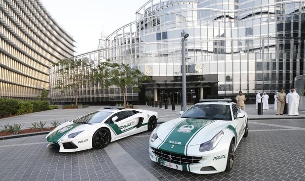 Dubai police Ferrari patrol car