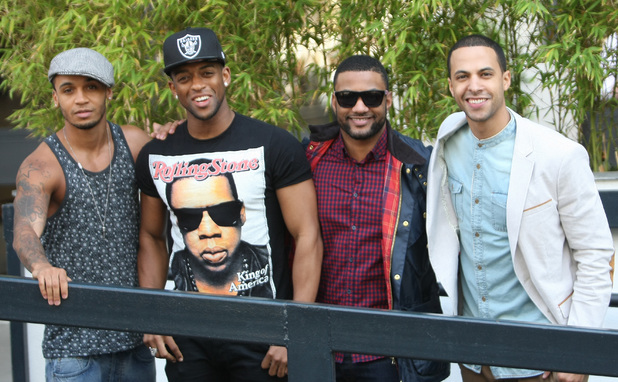 JLS outside ITV Studios in their first public appearance since announcing their split