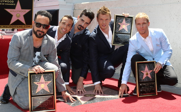 The Backstreet Boys receive their star on the Hollywood Walk of Fame